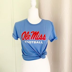 Nike Ole Miss Baby Blue Tee, Men's Small